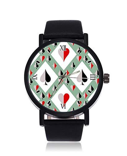Iconos de Las Cartas de Juego. Reloj de Pulsera para Hombre de...