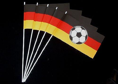 Papierf chen  Deutschland mit Fußball 1000er Packung