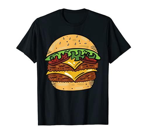Hamburguesa con queso perezoso DIY disfraz de Halloween Hamburguesa comida rpida Camiseta