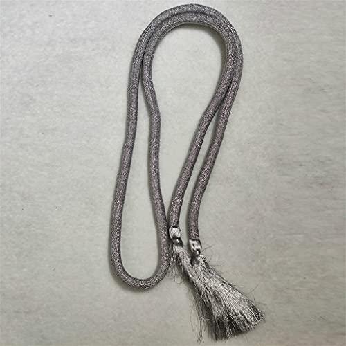NMJKH Cinturón con flecos dorado trenzado para mujer, cadena de cintura decorativa, 180 cm, cuerda de cintura para mujer, cinturón con flecos (Color : B, Size : 180 cm)