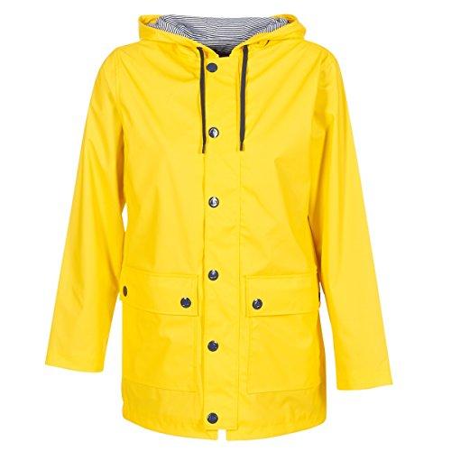 Petit Bateau CIRES, Coupe Vent, Abrigo Impermeable para Mujer, Amarillo (Jaune 01), Large (Tallas De Fabricante:Large)