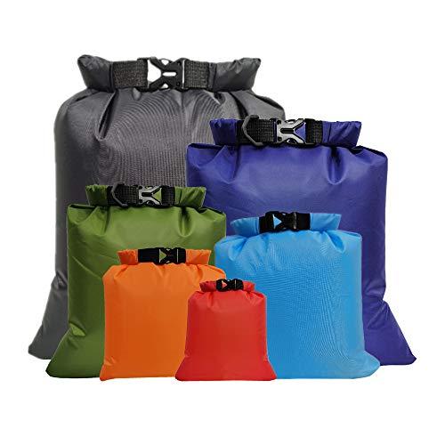 Lixada 6 stycken utomhus vattentät förvaringsväska packväska, för camping båtfärder smartphone kamera förvaringsväska för drivande vattensporter, (1,5 l + 2,5 L + 3,0 L +3,5 L + 5,0 L + 8,0 L)