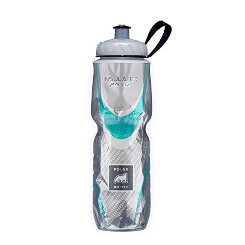 Polar Bottle Insulated Water Bottle 24 oz - 100% BPA-Free Cycling and Sports Water Bottle - Dishwasher & Freezer Safe (Spin Steel, 24 Ounce)