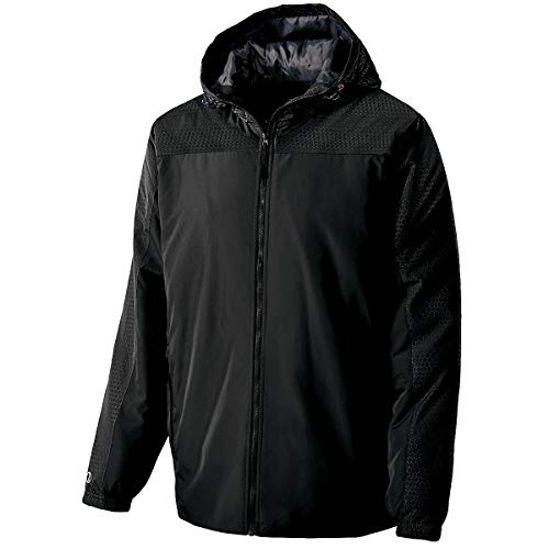 Holloway Adult Bionic Hooded Jacket (XX-Large, Black/Carbon)