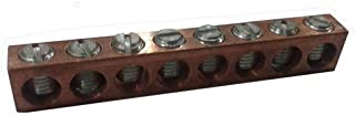10 Circuits #4 Wire Range Morris 91140 Morris Products 91140 Ground//Neutral Bar Aluminum #14