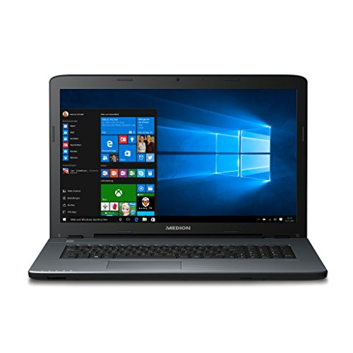 Medion AKOYA P7641 MD 60091 - Ordenador portátil de 43,9 cm (17,3 pulgadas, pantalla mate) (Intel Core i5-6200U, 8 GB de RAM, 256 GB SSD, NVIDIA GeForce 930M, DVD, Win 10), color plateado