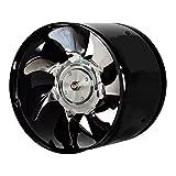 Mingwang Ventilador de Escape de Alta Velocidad de 6 Pulgadas del conducto en línea Extractor de Cocina de la Cocina del Extractor de asador de Metal Fan Industrial 220V