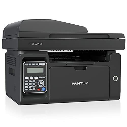 Pantum M6602NW All-in-One Monochrome Laser Printer Copier Scanner Fax...