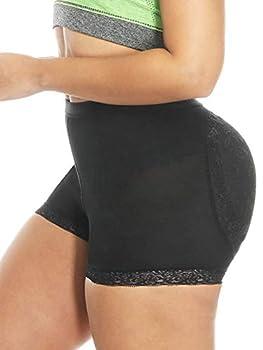 NINGMI Women Butt Lifter Padded Shapewear Enhancer Control Panties Body Shaper Underwear Black
