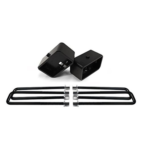 "American Automotive Silverado Sierra Lift Kit 3"" Rear Lift Steel Blocks + Extra Long 12"" U Bolts"