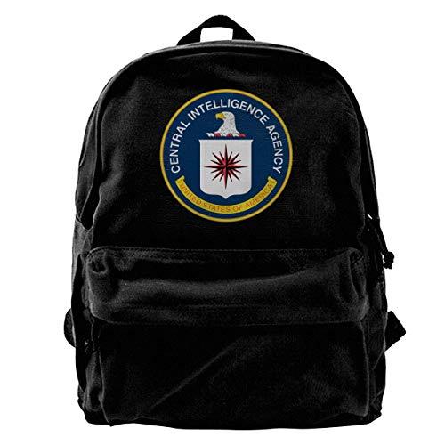 Haloxa Central Intelligence Agency Vintage Unisex Canvas Shoulder Bag Travel Backpack School Bags