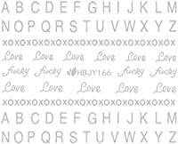 ネイルシール アルファベット 文字 パート2 ブラック/ホワイト/ゴールド/シルバー 選べる44種 (シルバーSP, 29)