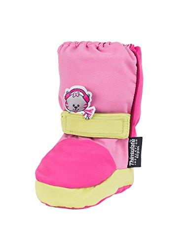 maximo 65203 - Baby Winterstoffschuhe Winterwagenschuhe pink Gr. 17/18-23/23 (23/24)