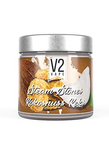 V2 Vape Shisha Steine - Steam Stones Dampfsteine 250gr 0mg nikotinfrei Kokosnuss-Keks