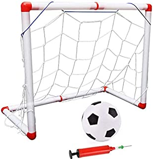 ball Pump Children's Sports Toys 1 Set Child Birthday Gift Plastic Folding Mini Football Soccer ball Goal Post net Set/Pum...