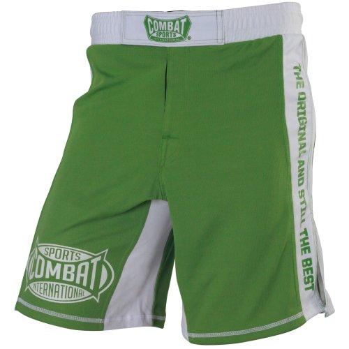 Combat Sports Training MMA Boardshorts, 34-Inch, Green/White