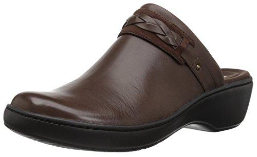 Clarks Women's Delana Abbey Clog, Dark Brown Leather, 080 M US
