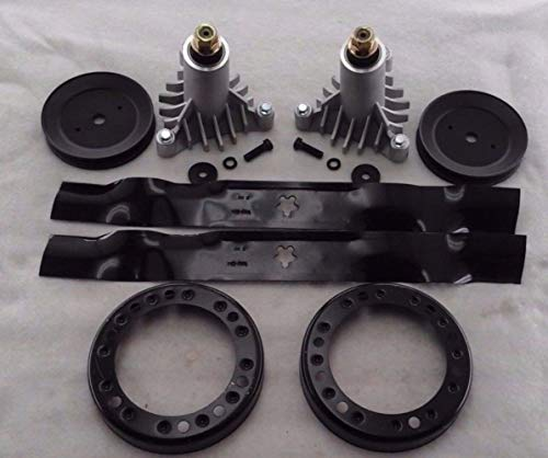 proven part Riding Mower Deck Rebuild Kit Spindles Blades Pulleys Replace Craftsman 42 Inch 130794 134149 138971 173436 153535
