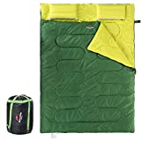 Naturehike Double Sleeping Bag for Adults & Kids with 2 Pillows, Lightweight Waterproof 2 Person...