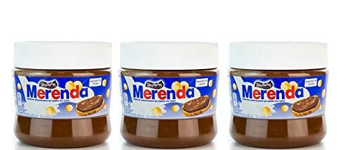 3 230g Becher Merenda - griechischer Haselnuss Schoko Brotauftstrich Kakao Aufstrich aus Griechenland Pavlidis Frühstück Schokoladen Creme 3er Set + 10ml Olivenöl von Kreta zum testen