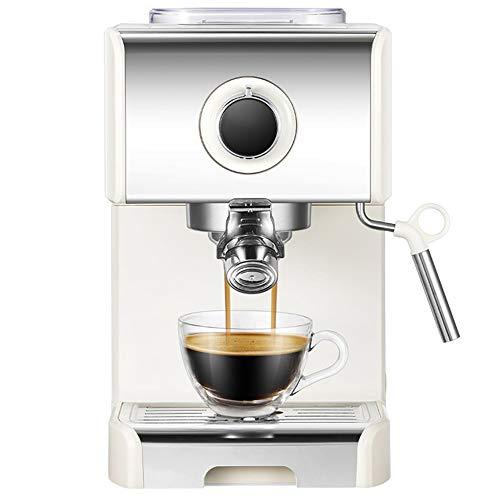 T-C Bean Cup Filterkaffeemaschine Espresso-Maschine-20 Bar, Capuccino, Milchschaum, 1250W, elegantes Design for moderne Küchen, Dampfdüse for Milch aufschäumen und Vorbereitung Heiße Getränke, Weiss 6