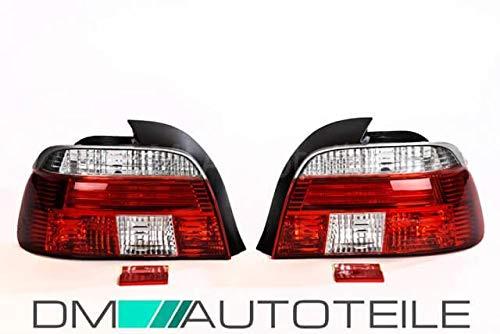 DM Autoteile 2x Rückleuchten Heckleuchten Facelift Celis Rot Weiß passt für E39 Limousine