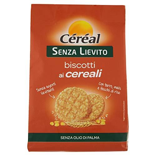 Céréal Biscotti ai Cereali Croccanti - Senza Lievito - crispies di farro, mais, fiocchi di riso - 50 biscotti