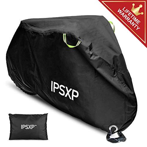 IPSXP Fahrradabdeckung, Draussen Fahrrad Schutzhülle Fahrradgarage Fahrradschutzhülle mit Abschließbar Loch für 29 Zoll Universal Fahrrad Mountainbikes Rennräder Motorrad (208 x 112 x 76 cm)