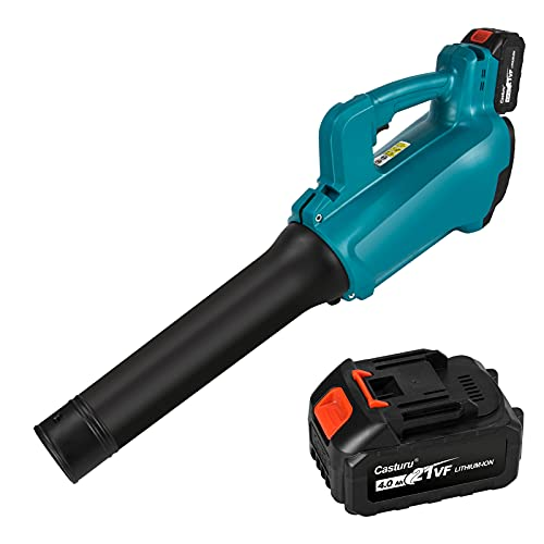 Cordless Leaf Blower CASTURU 460CFM 130MPH Electric Leaf Blower for Yard Cleaning , Lightweight Leaf Blower Battery Powered for Leaf/Snow/Dust Blowing ( 4.0AH Battery & Charger Included)