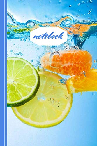 notebook: water citruses slices