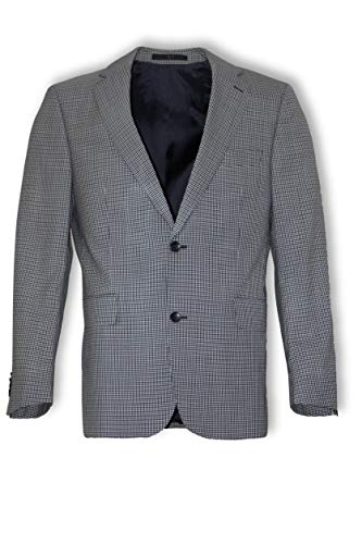 DAKS LONDON Barret Sakko 100% Vigrin Wool Plaid-Muster Gr. 48 DE