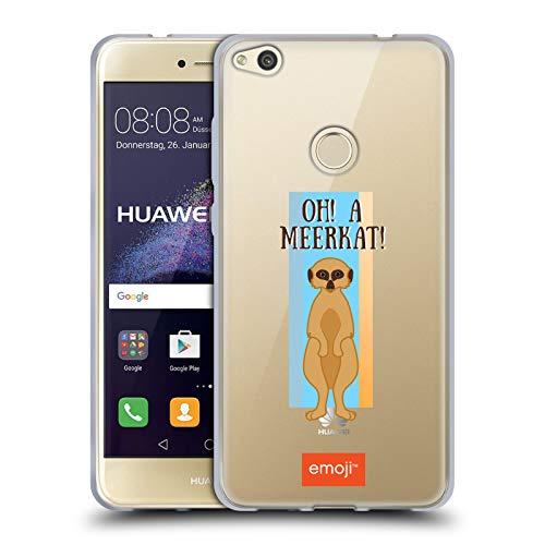 Head Case Designs Oficial Emoji Mero Gato Suricata Carcasa de Gel de Silicona Compatible con Huawei P8 Lite (2017)