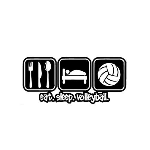 Empty 3 Stück Auto Aufkleber und Abziehbilder 16.2 * 7.4CM Eat Sleep Play Volleyball Wasserdichtes, reflektierendes Abziehbild für Stoßstangenfenster Laptop Motorrad Fahrradgepäck Graffiti Patches