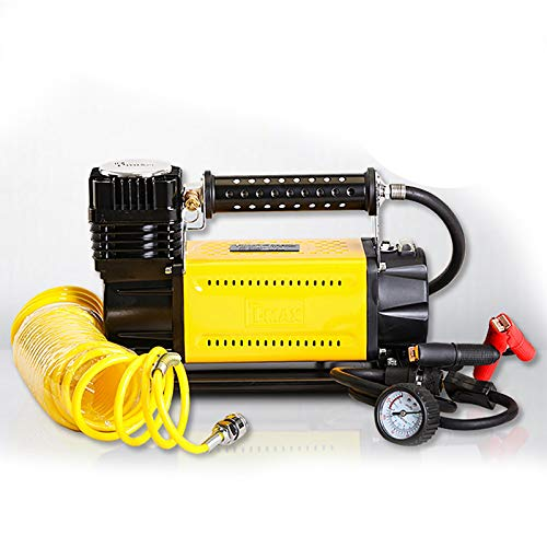 RYUMD Luftkompressor ReifenfüLler, Tragbarer Autoluftkompressor Mit Instrumenten-Multifunktions-Autoluftpumpe, Mit 3 DüSenadaptern, Geeignet FüR Autoreifen, Lkws GeläNdefahrzeuge
