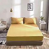 CYYyang Protector de colchón/Cubre colchón Acolchado de Fibra antiácaros, Transpirable, Sábana Impermeable con impresión Todo Incluido-2_150 * 190cm