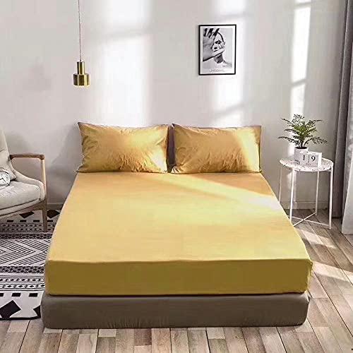 CYYyang Protector de colchón/Cubre colchón Acolchado de Fibra antiácaros, Transpirable, Sábana Impermeable con impresión Todo Incluido-2_150 * 200cm