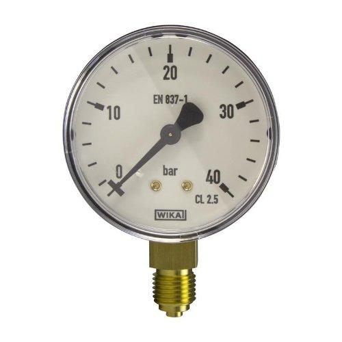 Manometer, NG63, 0-40 bar - WIKA 111.10 - 9013806