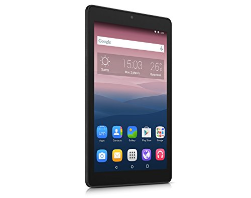 Alcatel One Touch Pixi 3 Tablet 8 inch (20,3 cm) (WiFi Quad Core 1,3 GHz/1 GB RAM en 16 GB ROM) zwart grijs - toetsenbord QWERTY Spaans