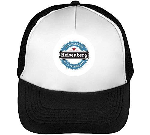 Wicked Design Heisenberg Beer Funny Logo Trucker Cap Herren Damen Schwarz weiß Snapback One Size