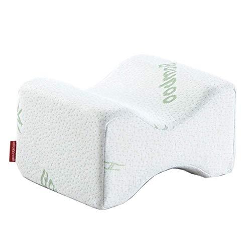 La almohada con memoria para el cuello alivia la f Almohada de la rodilla de la espuma de la memoria de la fibra de bambú para los durmientes laterales Alinear la columna vertebral almohadas del cuerp