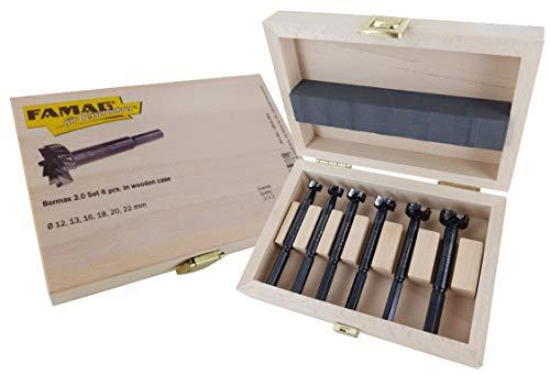 Famag 1622.554 Forstnerbohrer-Set, 6-teilig, BORMAX 2, 12, 13, 16, 18, 20, 22 mm