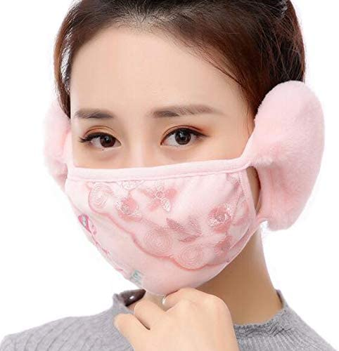Womens Winter Warmers Velvet Cotton Masks Ninja Windproof Earmuffs Ear Muffs Men