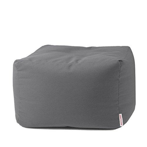 Arketicom Soft Cube Outdoor Pouf Morbido Sacco Poggiapiedi 65x42h Grigio Scuro