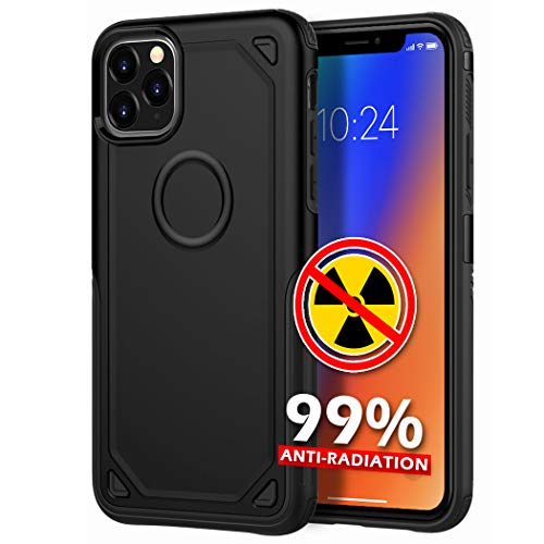 YUEKAI Anti Radiation Cell Phone Case for iPhone 11 Pro Max, 99% EMF Protection, Shock-Absorption Bumper Cover Full Body Double Protection for Apple iPhone 11 Pro Max (Black)