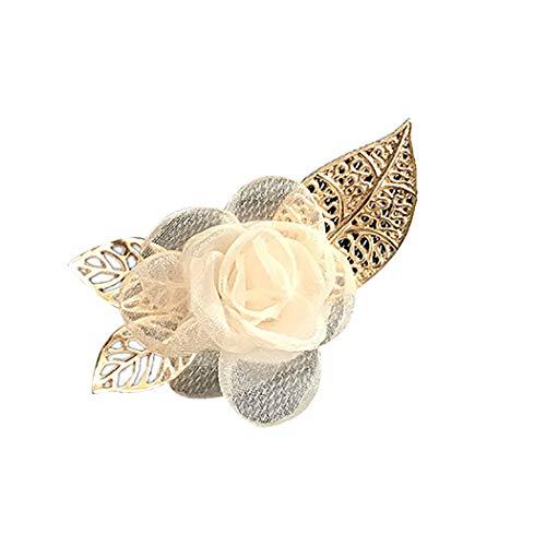 FunPa Broche Pin Fashion Fake Flower Corsage Broche Kleding Broche voor bruidegom Groomsman