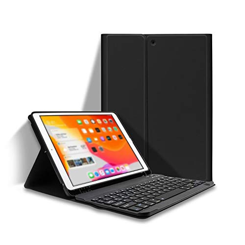 Festnight Detachable BT Keyboard Case with Elastic Pen Slot Compatible with iPad Pro 10.5/ Air3 10.5 2019/ iPad 10.2 2020 Black