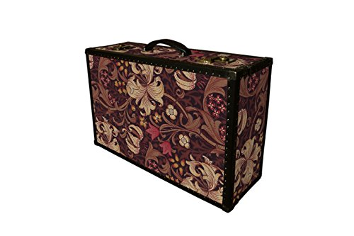 Luxury Morris Wallaper Suitcase Hardsided Luggage unique furniture, bedside table, nighstand, storage, home decor: Lennon GLF