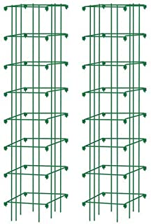 Gardener's Supply Company Square Heavy Gauge Extra Tall Tomato Cage, Set of 2 Green