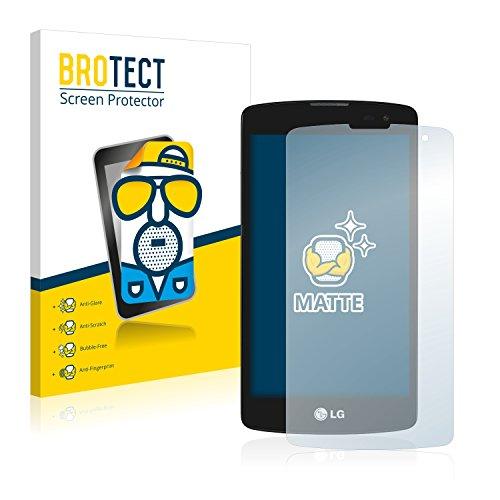 BROTECT 2X Entspiegelungs-Schutzfolie kompatibel mit LG L Fino D290 Bildschirmschutz-Folie Matt, Anti-Reflex, Anti-Fingerprint