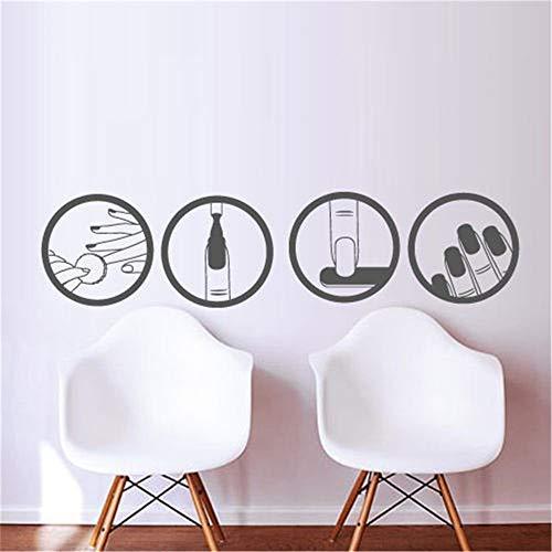 stickers muraux citations en espagnol Nail Salon Beauté Design Master Manucure Polonais Nail Shop Verre de Salon